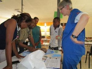 Rotariana Karin Davies apresenta um cenário clínico