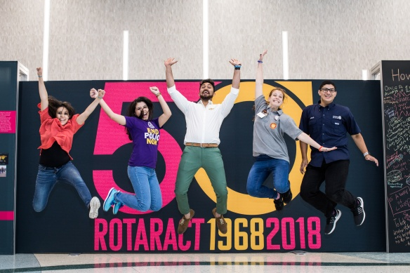 Attendees at the Rotaract 50 exhibit. Toronto, Ontario, Canada. 22 June 2018.