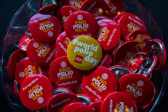 Rotary's World Polio Day event in Chicago, Illinois, USA, 24 October 2014.